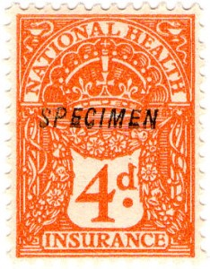 British National Insurance Stamps from 1915